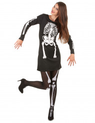 Déguisement squelette Halloween femme