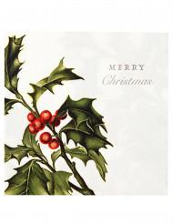 20 Serviettes en papier Merry Christmas 33 x 33 cm
