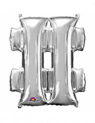 Ballon aluminium symbole # argent 33 cm