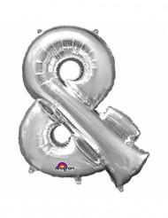 Ballon aluminium symbole & argent 33 cm