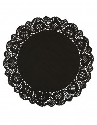 10 Sets de table napperons noirs