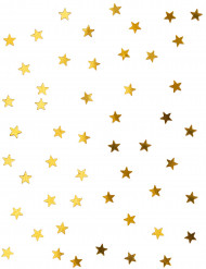 Mini confettis étoiles dorées 0.5 cm