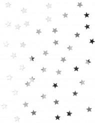 Mini confettis étoiles argentées 0.5 cm