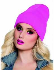 Bonnet rose fluo 90's adulte