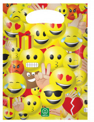 6 Sacs de fête en plastique 17 x 23 cm Imoji™