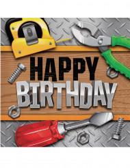 16 Serviettes en papier Happy Birthday Bricoleur