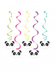 5 Suspensions spirales Panda Party