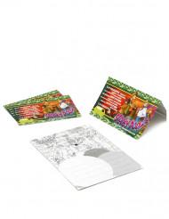 4 Cartons d'invitations Scooby doo™