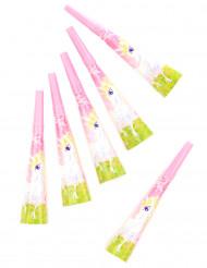 6 Trompettes Licorne girly 20 cm