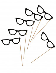 Kit photobooth 6 lunettes noires