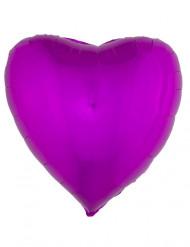 Ballon aluminium coeur rose fuchsia 45 cm
