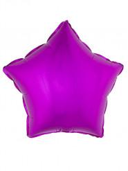Ballon aluminium étoile rose fuchsia 45 cm