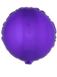 Ballon aluminium rond violet 45 cm