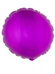 Ballon aluminium rond rose fuschia 45 cm