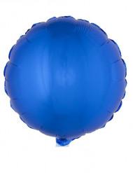 Ballon aluminium rond bleu 45 cm