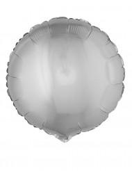 Ballon aluminium rond argenté 45 cm