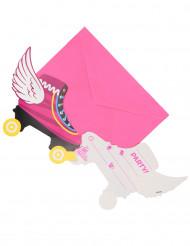 6 Cartes d'invitation + enveloppes Soy Luna™