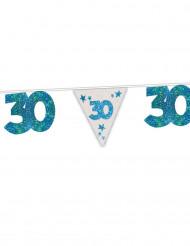 Guirlande bleue 30 ans 6m