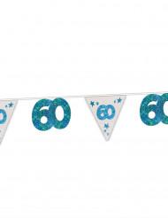 Guirlande bleue 60 ans 6 mètres