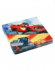 20 Serviettes en papier Blaze et les Monster Machines™ 33 x 33 cm