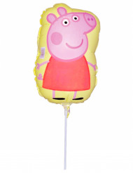 Petit ballon en aluminium Peppa Pig™ gonflé 30 X 18 cm