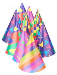 10 Chapeaux de fête multicolores