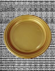 50 Petites assiettes à dessert en plastique or 16 cm