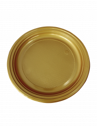 30 Assiettes en plastique or 22 cm