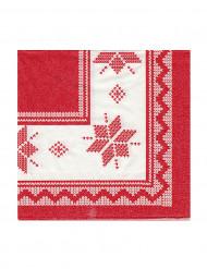 20 Petites serviettes en papier Chalet de montagne 24 x 24cm