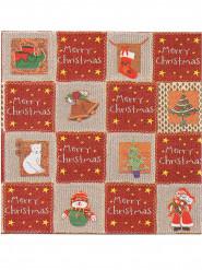 12 Serviettes papier épais intissé Premium Merry Christmas 40 x 40cm