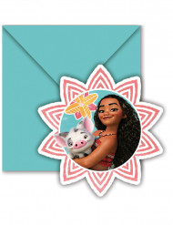 6 cartes d'invitation + enveloppes Vaiana™