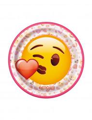8 Petites assiettes en carton Emoji™ 17.5 cm