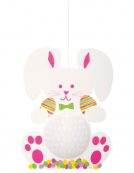 Décoration à suspendre lapin de Pâques 35 cm