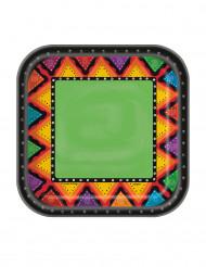 10 Petites assiettes en carton Mexique