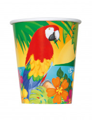 8 Gobelets en carton Tropical