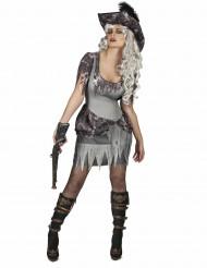 Déguisement pirate fantôme grise femme