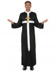 Déguisement prêtre croix blanche homme