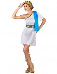 Déguisement impératrice Grecque bleue femme