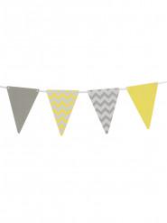 Kit Guirlande 20 fanions gris et jaune