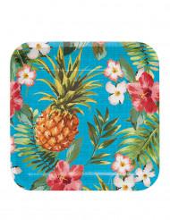 8 Assiettes en carton Tropics 23 cm