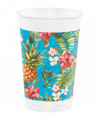 8 Grands gobelets en plastique Tropics 473 ml