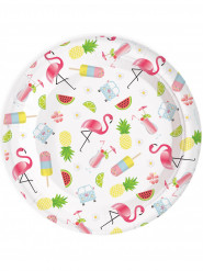 8 Assiettes en carton Summer Party 23 cm