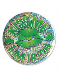 Badge Kiss me I'm Irish Saint Patrick
