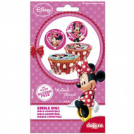 16 Mini disques en sucre Minnie™ 3,4 cm