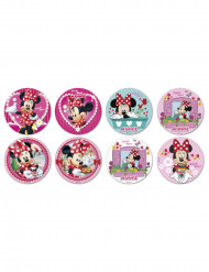 16 Mini disques en sucre Minnie™ 3,4 cm