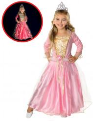 Déguisement princesse rose scintillante fille