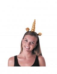 Serre-tête licorne doré adulte