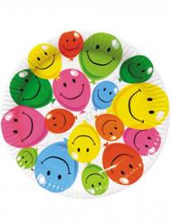 6 Assiettes en carton Smile 22 cm