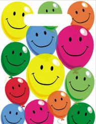 6 Sachets de fête en plastique Smile