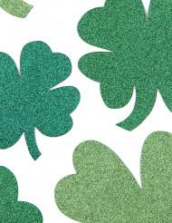Décorations trèfles verts paillettés Saint-Patrick